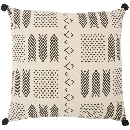 "Life Styles Dp010 Ivory/black 26"" X 26"" Throw Pillow"