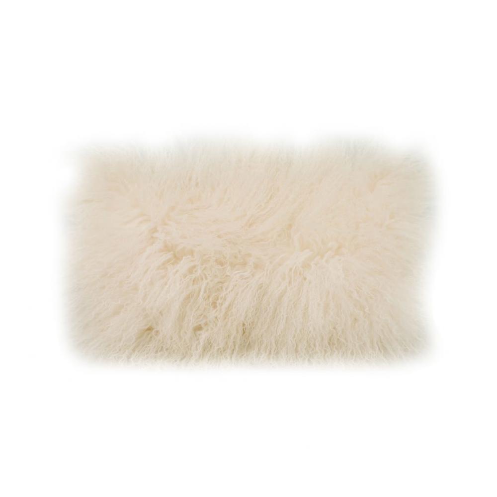 See Details - Lamb Fur Pillow Rect. Cream