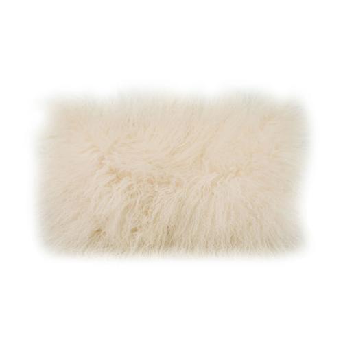 Moe's Home Collection - Lamb Fur Pillow Rect. Cream