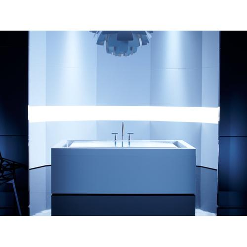 "White 75"" X 41"" Drop-in Effervescence Bath With Chromatherapy and Right-hand Drain"