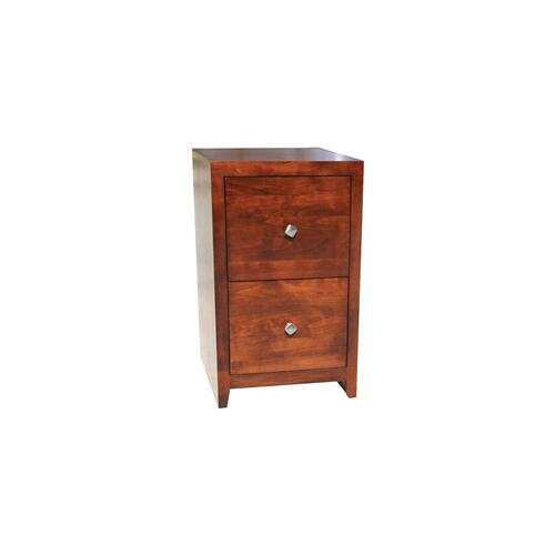 "O-P178 Pacific Urban Oak 2-Drawer Letter File Cabinet, 17 7/8""W x 16""D x 30""H"
