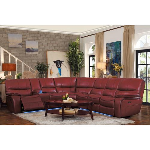 Gallery - Power Right Side Reclining Love Seat with LED and USB Port