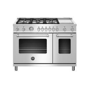 "Bertazzoni48"" Master Series range - Gas Oven - 6 aluminum burners + griddle - LP version"