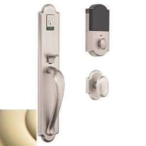 Lifetime Polished Brass Evolved Boulder Full Knob Handleset Product Image