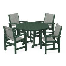 View Product - Coastal 5-Piece Dining Set in Green / Birch Sling