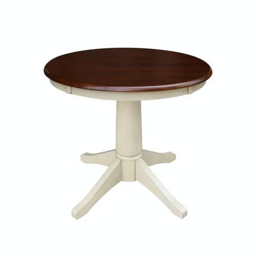 30'' Pedestal Espresso/Almond