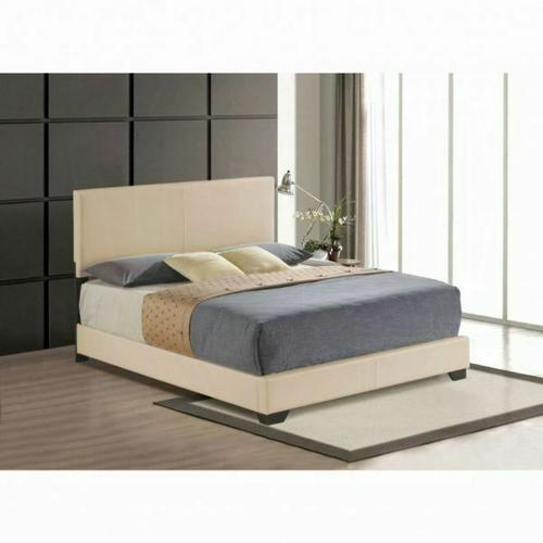 ACME Ireland III Queen Bed (Panel) - 24280Q - Beige PU
