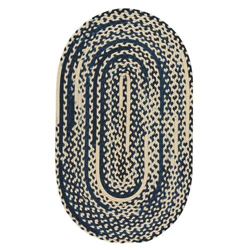 "LM-Navy Classic Wool Braid Navy - Oval - 20"" x 30"""