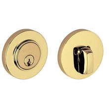View Product - Non-Lacquered Brass Contemporary Deadbolt