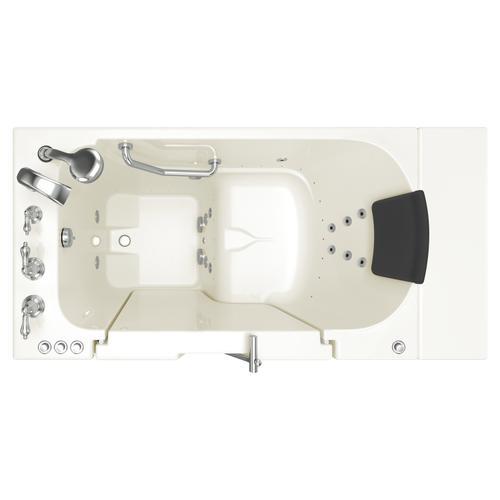 American Standard - Gelcoat Premium Series 30x52 Walk-in Bathtub with Combination Massage and Outward Facing Door, Left Drain  American Standard - Linen