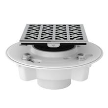 See Details - PVC 2 Inch X 3 Inch Drain Kit with Petal Decorative Cover - Polished Chrome