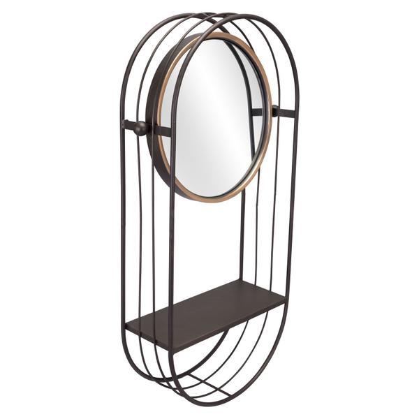 See Details - Saroni Mirror Shelf Gray