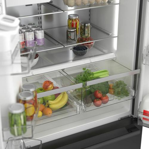 500 Series French Door Bottom Mount Refrigerator 36'' Black stainless steel B36CD50SNB