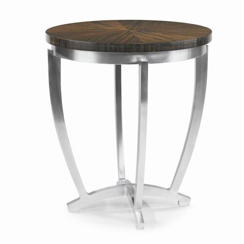 Omni Chairside Table With Metal Base