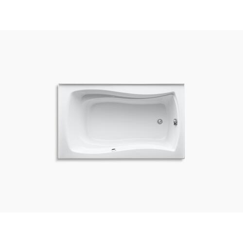 "Biscuit 60"" X 36"" Alcove Bath With Bask Heated Surface, Integral Apron, Integral Flange and Right-hand Drain"