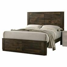 ACME Elettra Eastern King Bed - 24847EK - Rustic Walnut