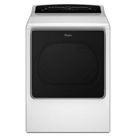 8.8 cu.ft Top Load HE Electric Dryer with Intuitive Touch Controls, Steam Refresh White