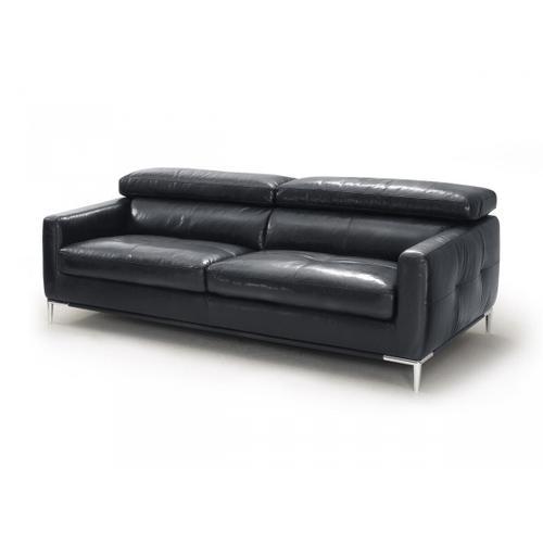 VIG Furniture - Divani Casa Natalia - Modern Black Leather Sofa