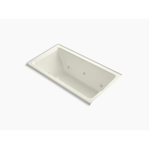 """Biscuit 66"""" X 36"""" Alcove Whirlpool Bath With Right Drain"""