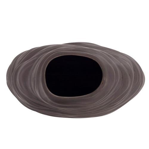 Howard Elliott - Graphite Organic Abstract Vase, Large