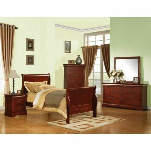 ACME Louis Philippe III Twin Bed - 19530T - Cherry
