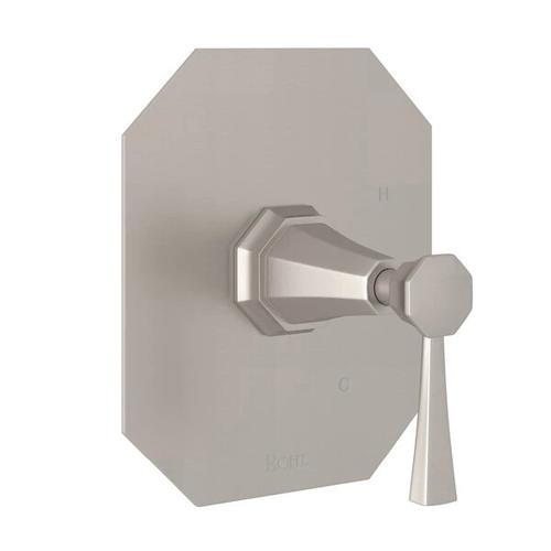 Deco Pressure Balance Trim without Diverter - Satin Nickel with Lever Handle