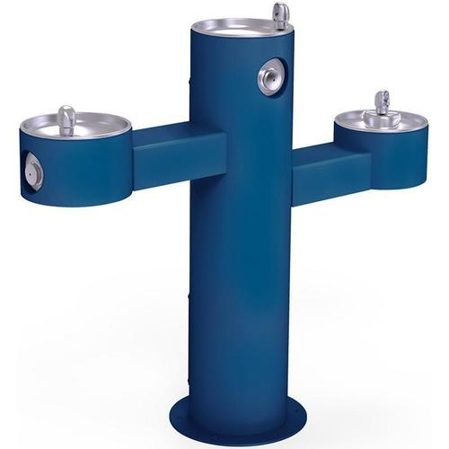 Elkay - Elkay Outdoor Fountain Tri-Level Pedestal Non-Filtered, Non-Refrigerated Blue