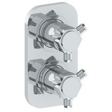 """See Details - Wall Mounted Mini Thermostatic Shower Trim With Built-in Control, 3 1/2"""""""