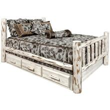 Montana Collection Spindle Style Beds with Storage