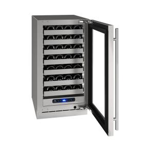 """18"""" Wine Refrigerator With Stainless Frame Finish and Field Reversible Door Swing (115 V/60 Hz Volts /60 Hz Hz)"""