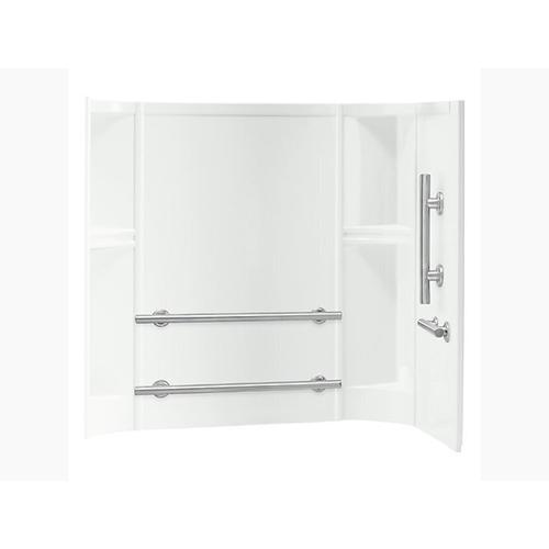 """Sterling - Accord® 60"""" x 30"""" smooth wall set with ADA-compliant grab bars - White"""