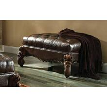 ACME Versailles Ottoman - 96538 - 2-Tone Dark Brown PU & Cherry Oak