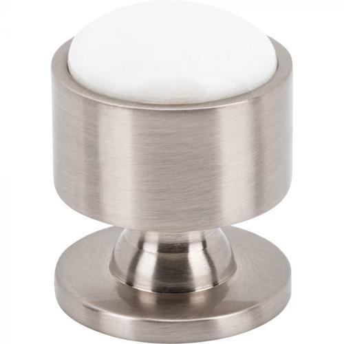 Vesta Fine Hardware - Firesky Calacatta Gold Knob 1 1/8 Inch Brushed Satin Nickel