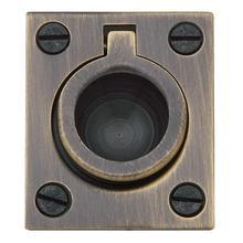Satin Brass and Black Flush Ring Pull