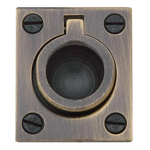 Baldwin - Satin Brass and Black Flush Ring Pull