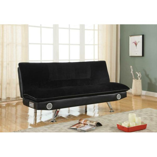 See Details - Casual Black Sofa Bed