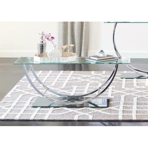 Contemporary Chrome Coffee Table