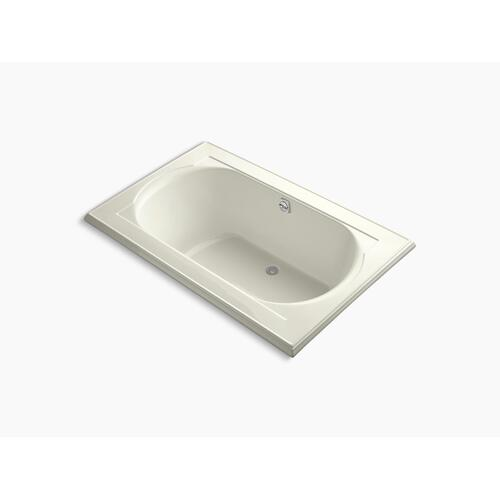 "Biscuit 66"" X 42"" Drop-in Bath With Bask Heated Surface and Reversible Drain"