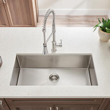 Pekoe Extra Deep Undermount 23x18 Single Bowl Kitchen Sink  American Standard - Stainless Steel