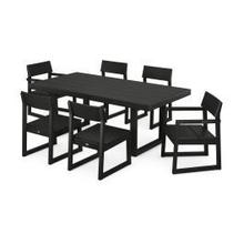 View Product - EDGE 7-Piece Dining Set in Black