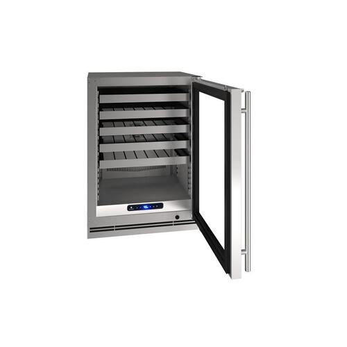 "24"" Wine Refrigerator With Stainless Solid Finish (115 V/ 60 Hz Volts / 60 Hz Hz)"