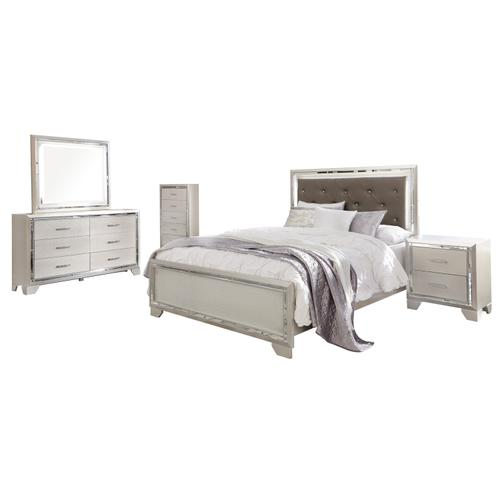 Lonnix - Silver Finish 2 Piece Bedroom Set