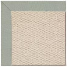 Creative Concepts-White Wicker Canvas Spa Blue Machine Tufted Rugs