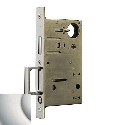 Polished Nickel with Lifetime Finish 8602 Pocket Door Lock with Pull