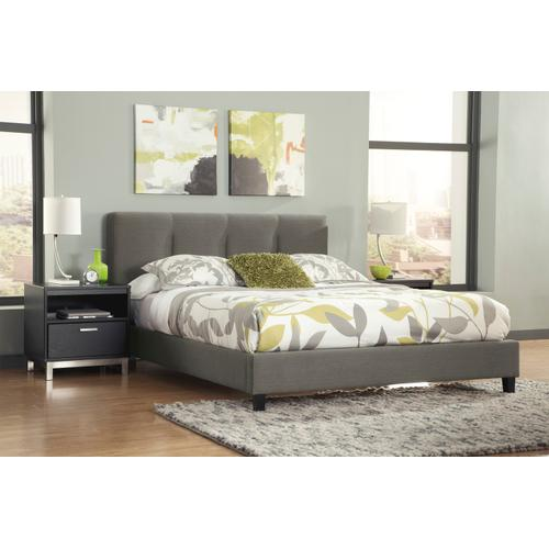 Masterton - Gray 2 Piece Uph Bed (Queen)