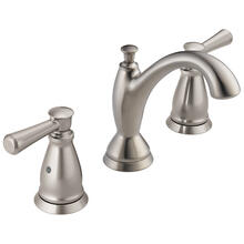 Stainless Traditional Two Handle Widespread Bathroom Faucet