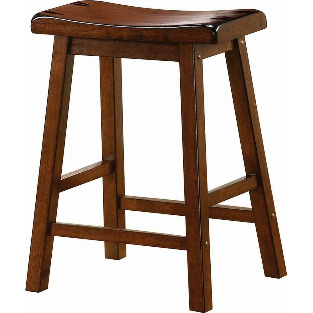 Transitional Chestnut Counter-height Stool