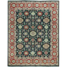 Legacy-Keshan Blue Red Hand Knotted Rugs