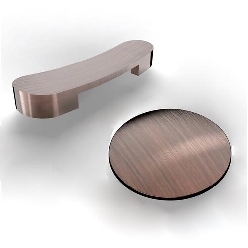 """Lyndell 67"""" Acrylic Slipper Tub with Integral Drain and Overflow - Oil Rubbed Bronze Drain and Overflow"""