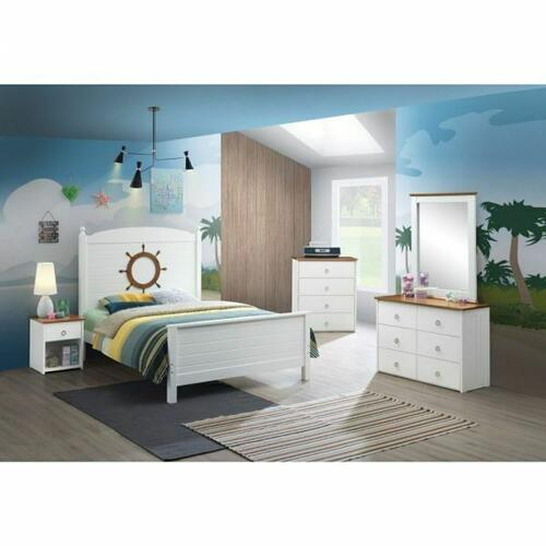 ACME Farah Full Bed - 30830F - White & Oak